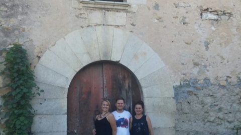 Visita de Iwona Sobotka i Pawel Marciniak a Can Clos.