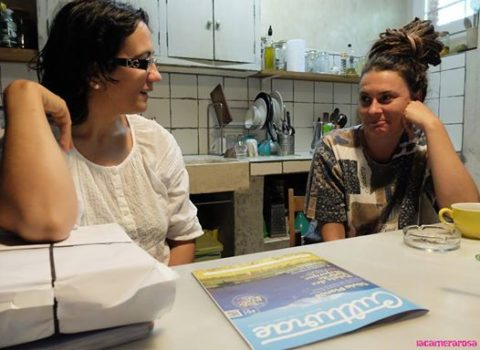 Visita de Ana Cabero, revista Culturae a  Can Clos.